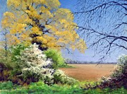 Oak Tree Paintings - Blackthorn Winter by Anthony Rule