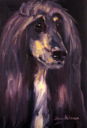 Afghan Hound Paintings - Blade by Terry  Chacon