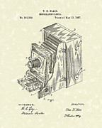 Optical Art Drawings Posters - Blair Photographic Camera 1887 Patent Art Poster by Prior Art Design