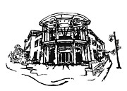 Library Drawings - Blair Public Library in Fayetteville AR by Amanda  Sanford
