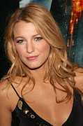 Lip Gloss Photo Posters - Blake Lively At Arrivals For The Dark Poster by Everett