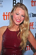 Sequins Framed Prints - Blake Lively At Arrivals For The Town Framed Print by Everett