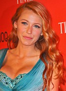 Blake Prints - Blake Lively At Arrivals For Time 100 Print by Everett