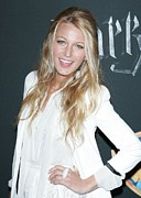 White Shirt Posters - Blake Lively Wearing A Dolce & Gabbana Poster by Everett