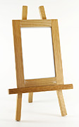 Picture Frame Prints - Blank vertical wood frame Print by Blink Images