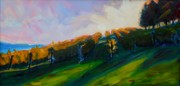 Grape Vineyards Originals - Blanket of Sunrays by Margaret  Plumb