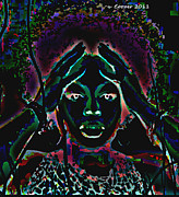 African-american Digital Art Prints - Blaque Print by LaShanna  Cooper