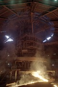 Steel: Iron Prints - Blast Furnace For Steel Production Print by Ria Novosti