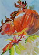 Yello Paintings - Blazing Autumn by Beverley Harper Tinsley