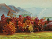 Great Painting Originals - Blazing Autumn in Cades Cove by Diana  Tyson