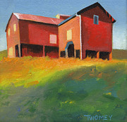 Bleak House Paintings - Bleak House Plantation Barn at Sunset by Catherine Twomey