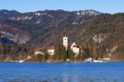 Bled Prints - Bled Lake in Slovenia Print by Andre Goncalves