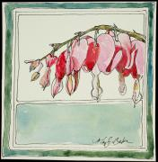 Loveland Artist Prints - Bleeding Hearts II Print by Mary Benke