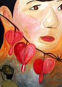 Korea Paintings - Bleeding Hearts by Lorraine Toler