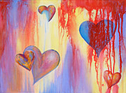 All Acrylic Prints - Bleeding Hearts by Samantha Lockwood