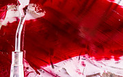 Paint Photograph Prints - Bleeding Red Print by Abigail Markov