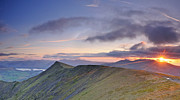 Wainwrights Framed Prints - Blencathra Sunset Framed Print by Stewart Smith