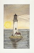 New England Lighthouse Pastels Posters - Blended Light Poster by Melonie King