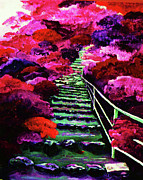 Staircase Paintings - Blended Path-First Step by AnDe Herbert