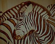 Zebra Pyrography - Blending In by Jo Schwartz