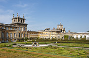 House With Garden Framed Prints - Blenheim Palace with Italian Garden Framed Print by Andrew  Michael