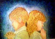 Keenya Woods Mixed Media Originals - Bless The Children by Keenya  Woods