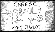 Jokes Drawings Originals - Blessed are the Cheese Makers by Yasha Harari