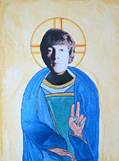 Byzantine Painting Prints - Blessed John Print by Philip Atkinson