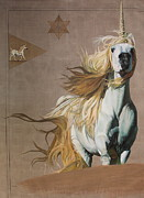 Unicorn Paintings - Blessed by Nan  Thibert