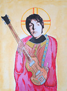 Ringo Starr Mixed Media - Blessed Paul by Philip Atkinson
