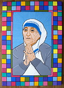 Calcutta Paintings - Blessed Teresa of Calcutta by Eamon Reilly