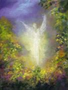 Angel  Artwork Prints - Blessing Angel Print by Marina Petro