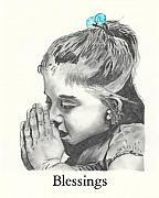 Blessings Drawings - Blessing by David Cherry