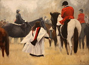 Pinto Painting Originals - Blessing of the Hounds by Heather Burton