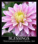 Blessings Dahlia Print by Patricia S