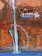 Faucet Posters - Blessings Poster by Denise Brown