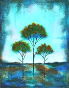 Trees Paintings - Blessings by Itaya Lightbourne