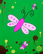 Drips Paintings - Blikbaby dragonfly by Kevin Fraser