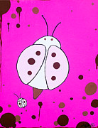 Drips Paintings - Blikbaby ladybug by Kevin Fraser