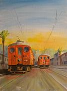 Trolley Paintings - Blimps by Christopher Jenkins