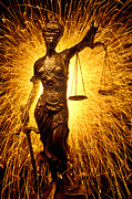 Statues Framed Prints - Blind Justice  Framed Print by Garry Gay