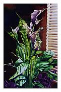 Shadows Paintings - Blind Luck Lilies by Mike Hill