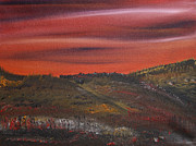 Prairie Sunset Paintings - Blind painting by James Bryron Love