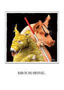 Superhero Paintings - Blind Pig and Mummy Dog... by Will Bullas