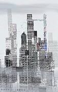 Cityscape Mixed Media Prints - Blip 2  Print by Andy  Mercer