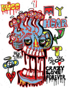 Raw Abstract Posters - Bliss For My Heart Poster by Robert Wolverton Jr