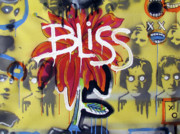 Memphis Artist Mixed Media Framed Prints - Bliss Is The Word Framed Print by Robert Wolverton Jr