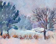 New England Snow Scene Paintings - Blizzard by Dan Nichols