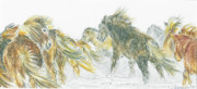 Horse Drawing Prints - Blizzard Print by Katrin J Oskarsdottir