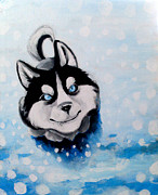 Siberian Husky Paintings - Blizzard by Nicholette  Haigler